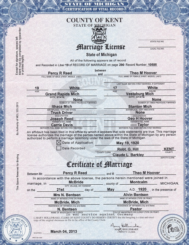 AIMEE: How to get a marriage license in michigan